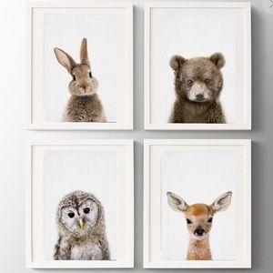 Woodland Animal Nursery Prints - 6 pack